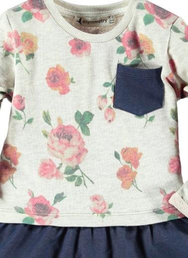 Çiçekli Elbise-Asymmetry